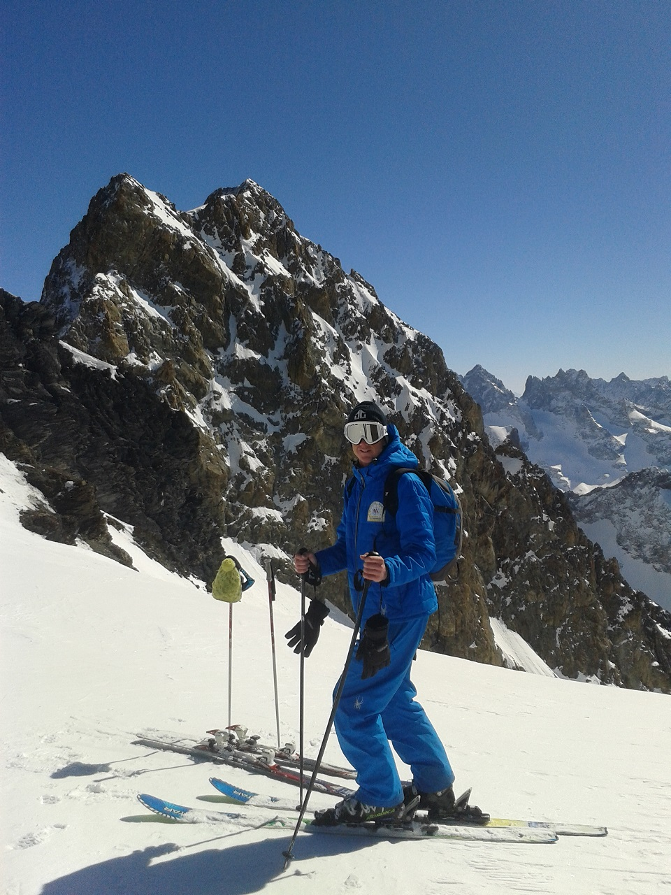 In front of Pic de la Grave