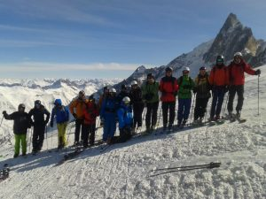 2 groups in La Grave last year