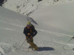 Colin on the climb
