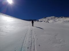 Ski tour by L2A glacier