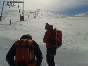 Waiting for the T-bar
