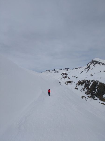 Galibier road in snow