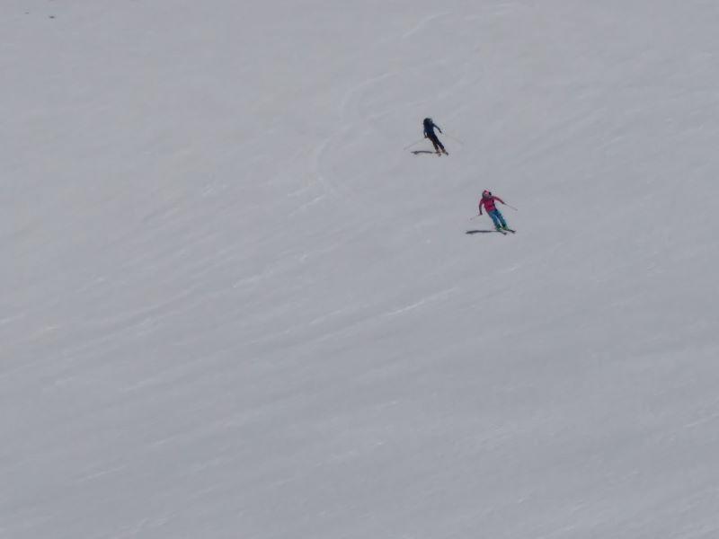 The ski down
