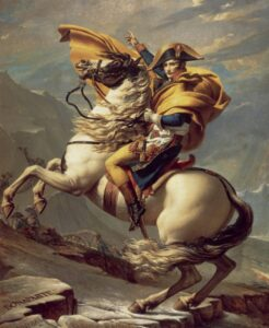 Napoleon Crossing the Alps - painting